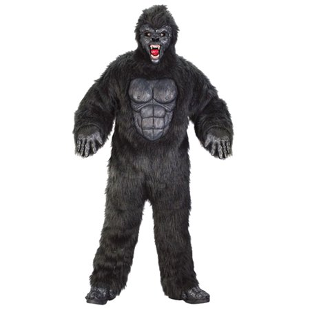Gorilla Suit Adult Halloween Costume, One Size 48-52 (Gorilla Suit Costume)
