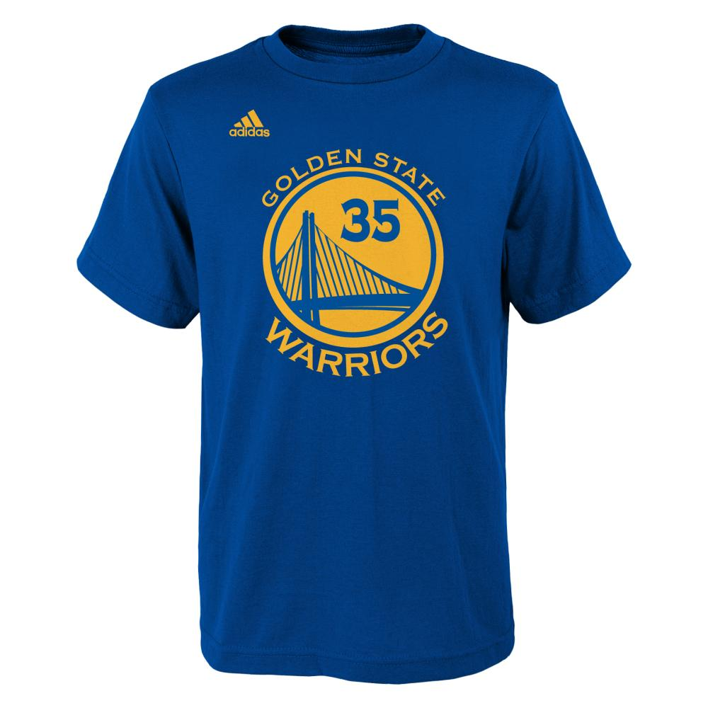 Kevin Durant Golden State Warriors Youth Gametime Number T-Shirt (Royal)