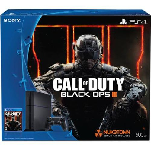 Refurbished Sony Playstation 4 500GB 3001055 Console Bundle with Call of Duty Black Ops III