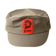 Mao Face Red Army Cadet Hat - Olive