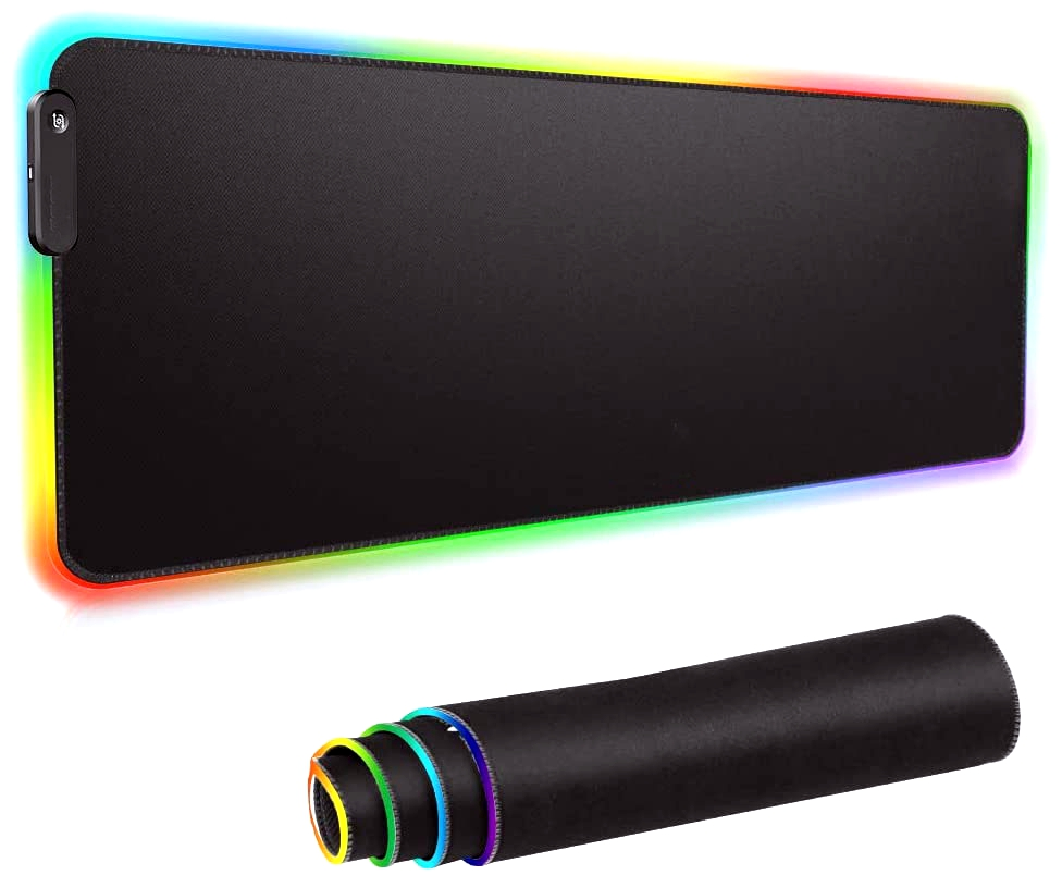 Office Plus RGB Gaming Large Extended Soft Led Mouse Pad and Desk Pad with 14 Lighting Modes
