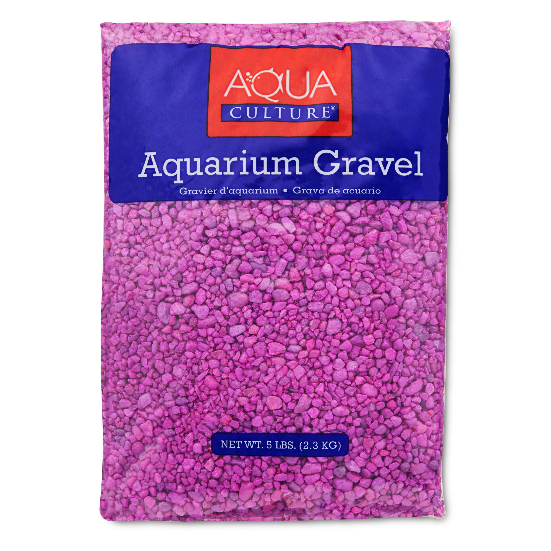 (4 Pack) Aqua Culture Aquarium Gravel, Neon Lavender, 5-Pound