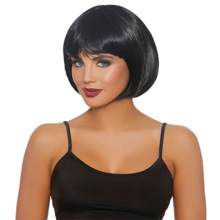 Black Short Bob Wig Adult Halloween Accessory