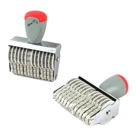 Office Rubber 13 Band Rolling Wheel 0-9 Numbers Digit Numbering Stamp Stamper (Rolling Stamper)