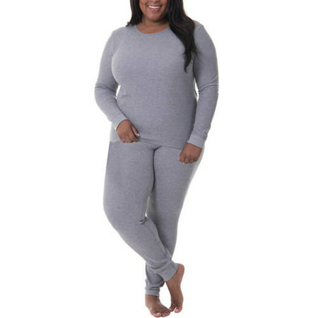 45228392e5b Fit for Me by Fruit of the Loom - Fit for Me by Fruit of the Loom Women s  and Women s Plus Size Waffle Thermal Underwear Top and Pant Set -  Walmart.com
