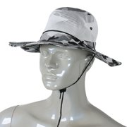 Unique Bargains Men Full Brim Hiking Fishing Cap Sun Hat Mesh Veil Hooded