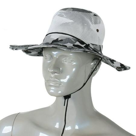 Unique Bargains Men Full Brim Hiking Fishing Cap Sun Hat Mesh Veil Hooded -  Walmart.com 89c6d414f5a3