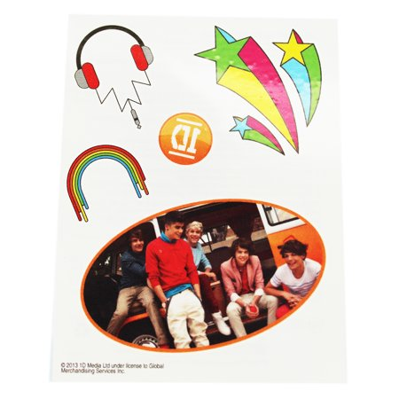 Rainbow Tattoos (One Direction Assorted Design Temporary Tattoos)