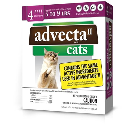 Image of Advecta II Flea and Tick Treatment for Small Cat, 4 Doses