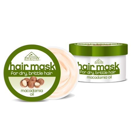 Intensive Nourishing Hair Mask - Excelsior Macadamia Oil Hair Mask, For Dry & Brittle Hair, Provides Intensive Nourishing & Protective Care, Repairs Stimulates & Regenerates Dry Brittle Hair 6 oz. (3-PACK)