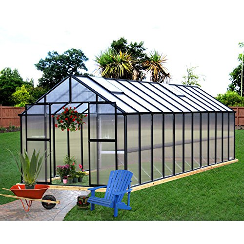 Riverstone Industries Monticello 8 x 24 ft. Greenhouse by Monticello Greenhouses