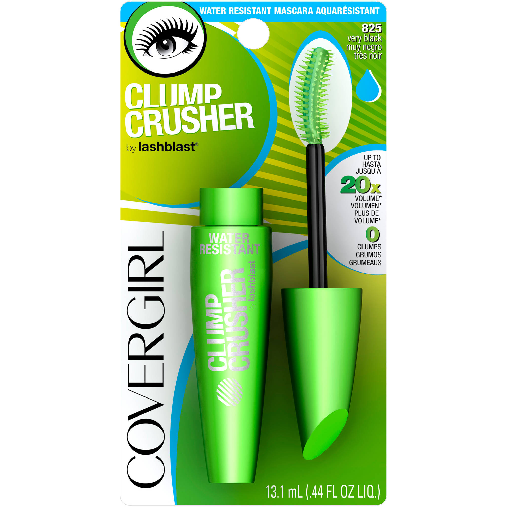 COVERGIRL Clump Crusher by LashBlast Water Resistant Mascara, 825 Very Black, .44 fl oz