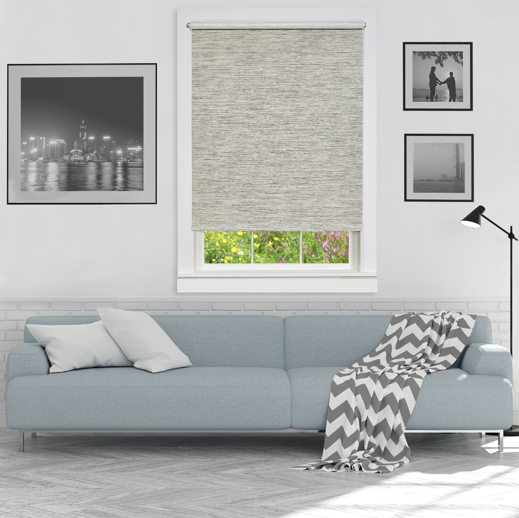 Cords Free Privacy Jute Window Shade