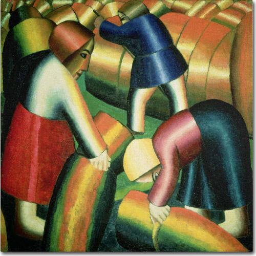 "Trademark Fine Art ""Taking In the Rye, 1912"" Canvas Art by Kazimir Malevich"