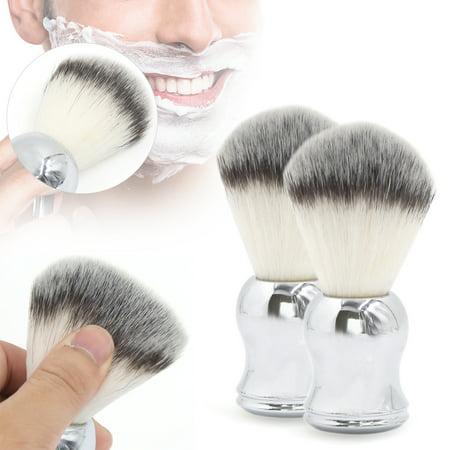 2pcs Luxury Chrome Handle Soft Pure Badger Hair Shaving Brush for Men