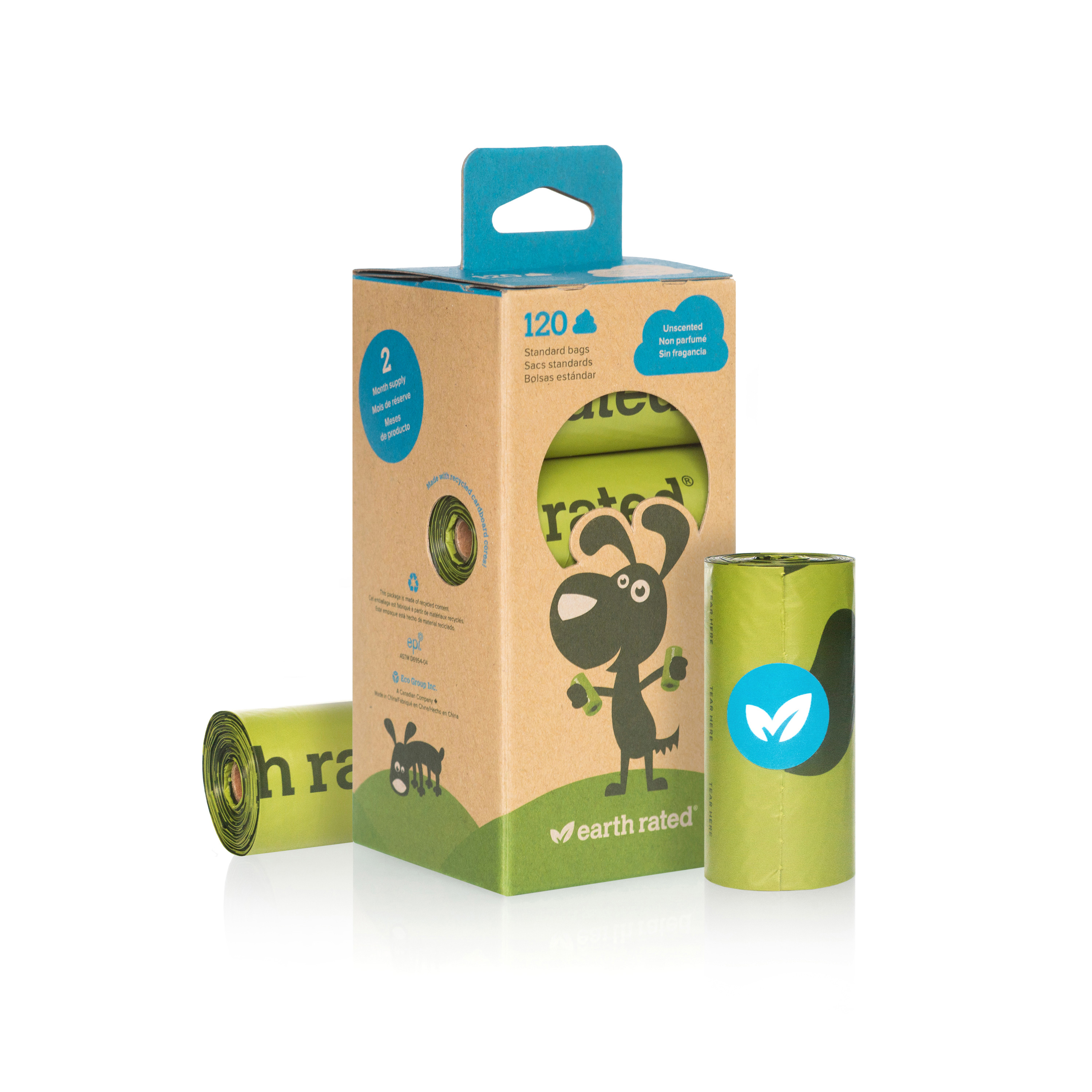 Earth Rated® Dog Waste Bags, Refill Rolls of Poop Bags