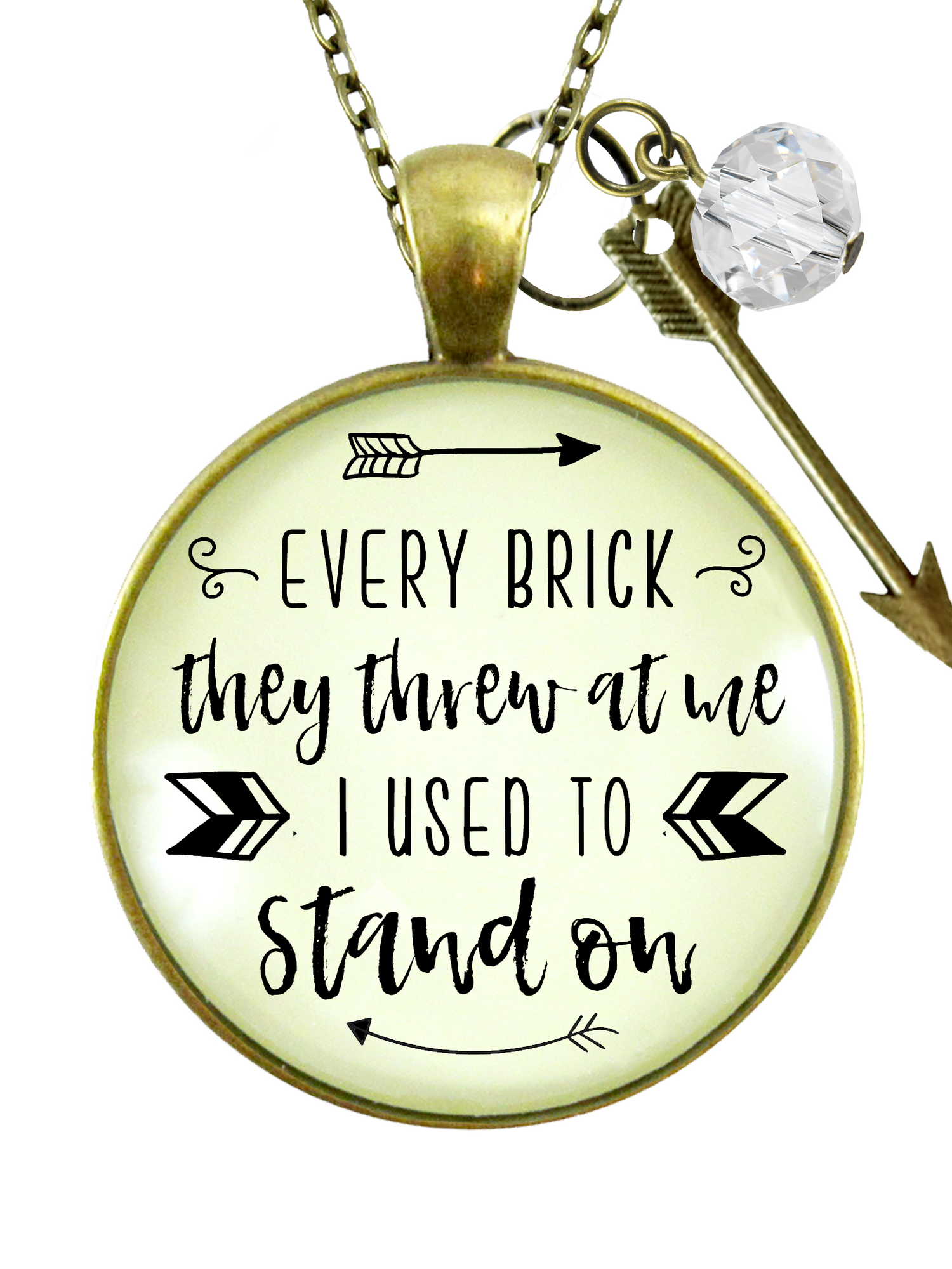 Gutsy Goodness Every Brick They Threw At Me Necklace Survivor Mantra Arrow Jewelry 24 Walmart Com Walmart Com 2020 popular 1 trends in jewelry & accessories, home & garden, lights & lighting, watches with arrow pendant chain and 1. walmart