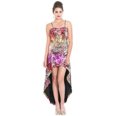 Red Carpet Prom Theme (Sequin High-Low Red Carpet Prom Dress, XS,)