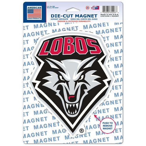 American Logo Products New Mexico Lobos Logo Magnet