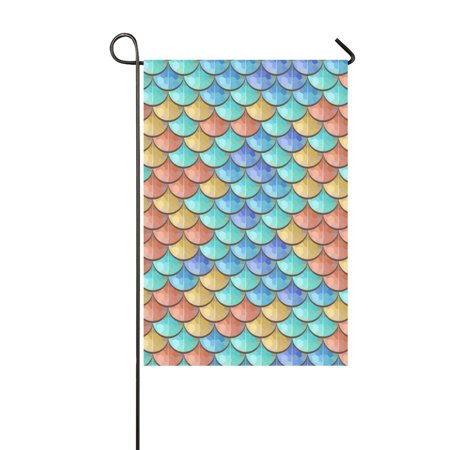 MYPOP River Fish Scales Outdoor Decorative Flag Garden Flag 12x18 inches