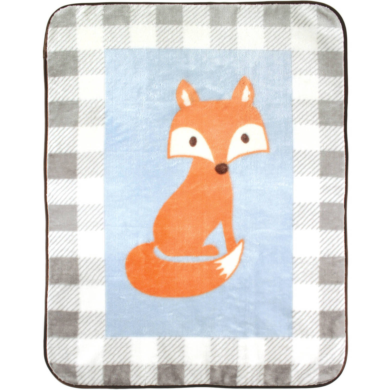 Luvable Friends Character High Pile Blanket, Fox