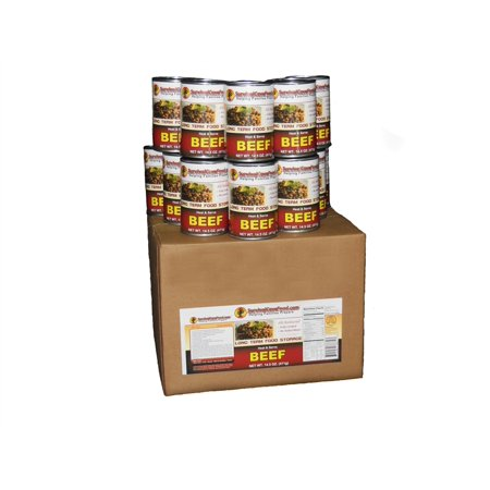 Survival Cave Canned Meat Beef Food 1 Case  12 Cans  14 5Oz