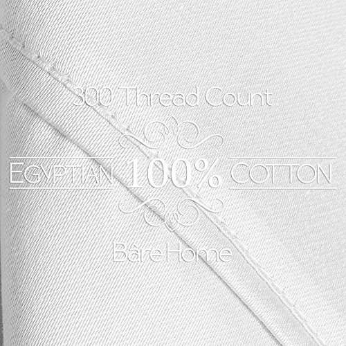 Egyptian Cotton 300 Thread Count Sateen King Sheet Set (King, Créme White)