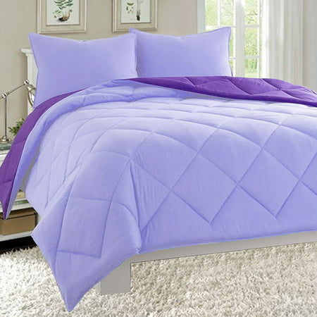 Close Out Deal , High Quality 3pc Comforter Set-Full/Queen, Lilac/Purple ()