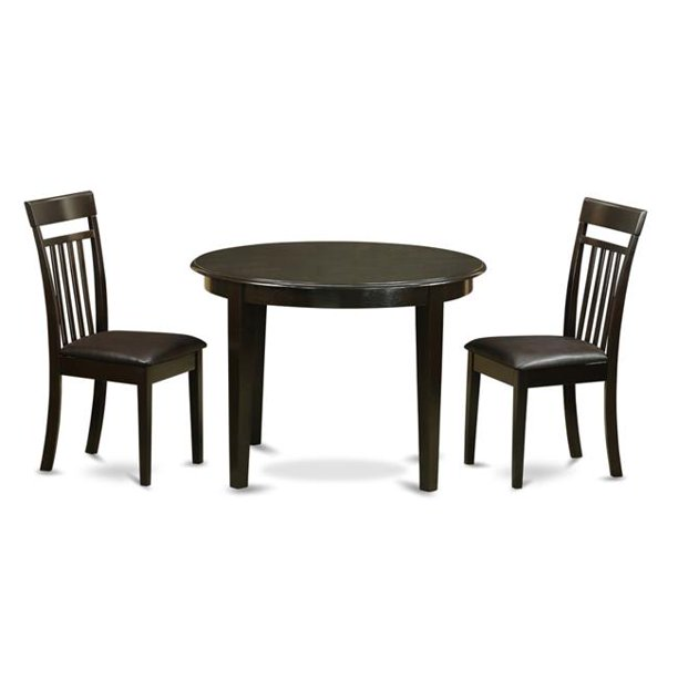 East West Furniture Boca3 Cap Lc Small Kitchen Table 2 Dinette Chairs 44 Cappuccino Walmart Com Walmart Com