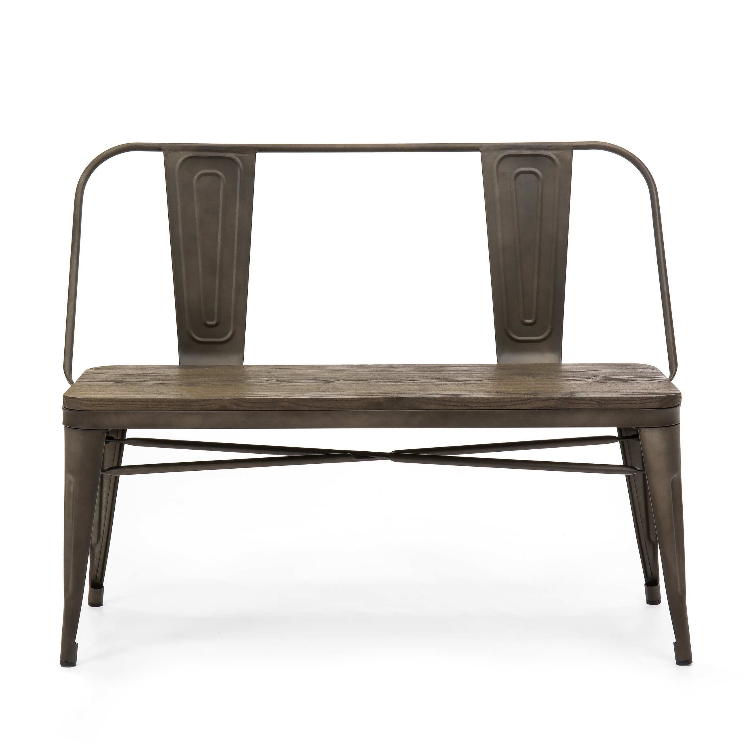 Exceptionnel Best Choice Products Mid Century Industrial Metal Dining Bench W/ Wood  Seat, Floor Protectors (Espresso)