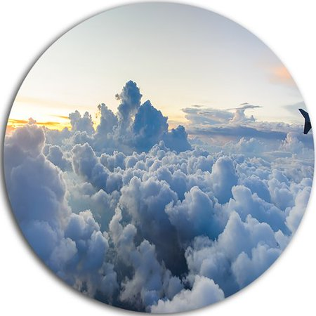 Design Art 'Light Blue Heavy Clouds in Sky' Photographic Print on -