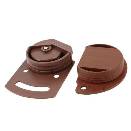 White Wheel Wardrobe Sliding Door Roller Parts 3.6mm Dia Bore Plate 2 in 1