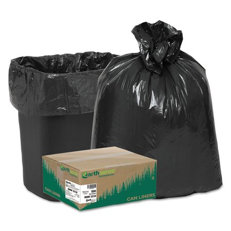 LINEAR LOW DENSITY RECYCLED CAN LINERS, 16 GAL, 0.85 MIL, 24