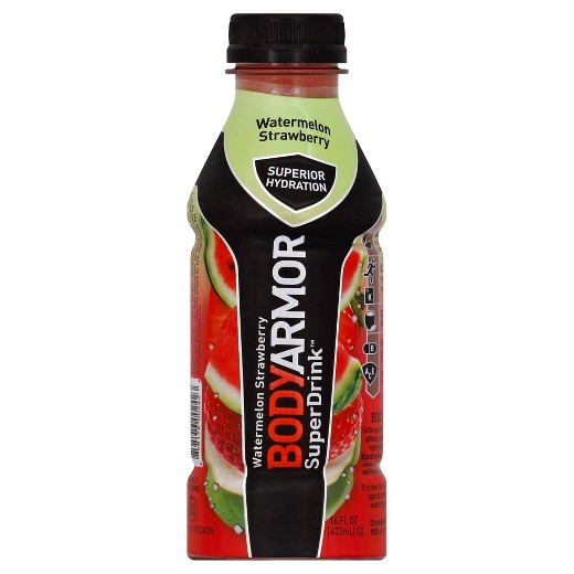Body Armor SuperDrink 16 Oz, Pack of 12, WATERMELON STRAWBERRY