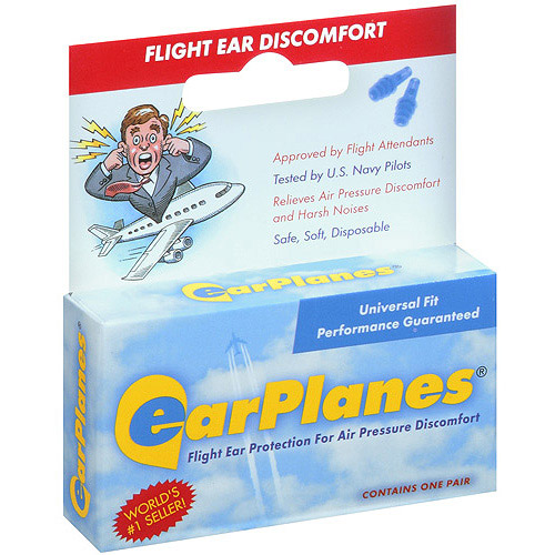 Earplanes For Air Pressure Discomfort Ear Plugs 1 pair