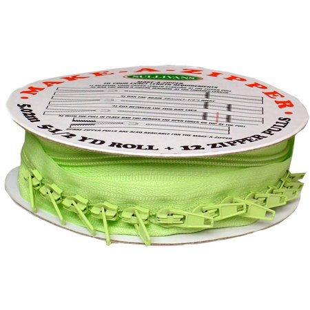 Sullivans Make-A-Zipper 5.5yd Reel Green (Zipper Forest Green)