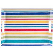Better Homes&gardens Melamine Striped Tray With Handles
