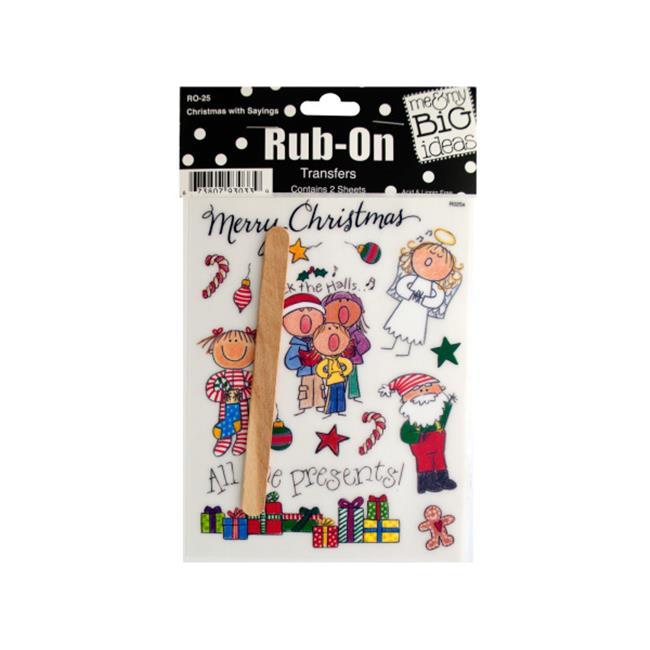 Bulk Buys CG259-72 Christmas with Sayings Rub-On Transfer...