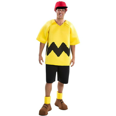 Peanuts Deluxe Charlie Brown Men's Adult Halloween Costume - Charlie Brown Halloween Birthday Party