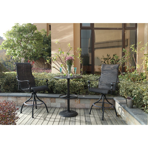 Darby Home Co Kentland 3 Piece Pub Table Set by