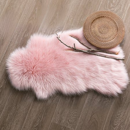 Deluxe Super Soft Faux Sheepskin Fur Chair Couch Cover Area Rug For ...