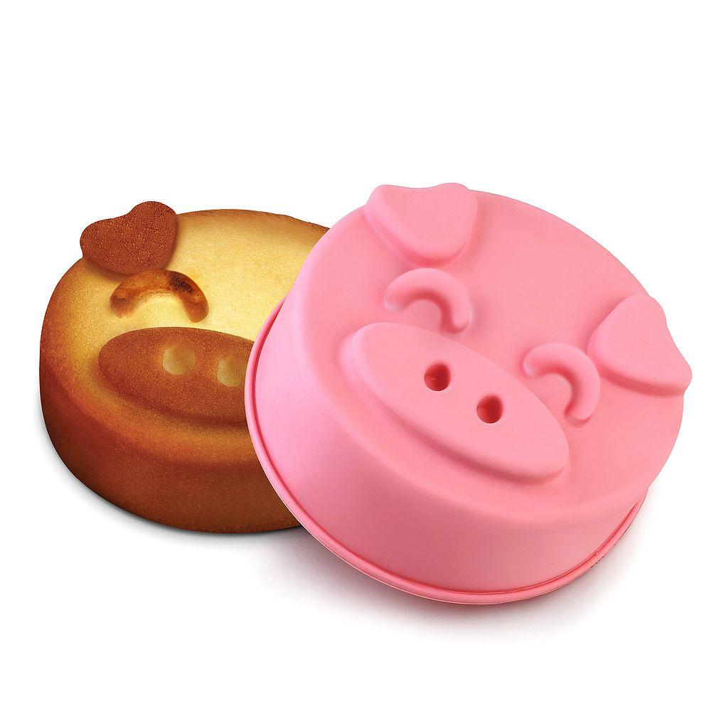 INNOKA Large Silicone Piggy Cake Mold Tray Pink by INNOKA