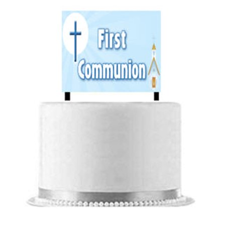 First Communion Cake Decoration Banner](Communion Banners)
