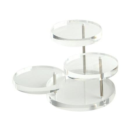 Acrylic jewelry ring aircraft rotation jewelry organic furnishing articles show round diamond jewelry display shelf ()