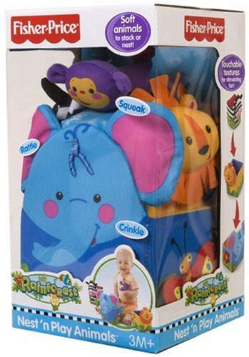 Fisher Price Rainforest Nest 'n Play Animals by Fisher-Price