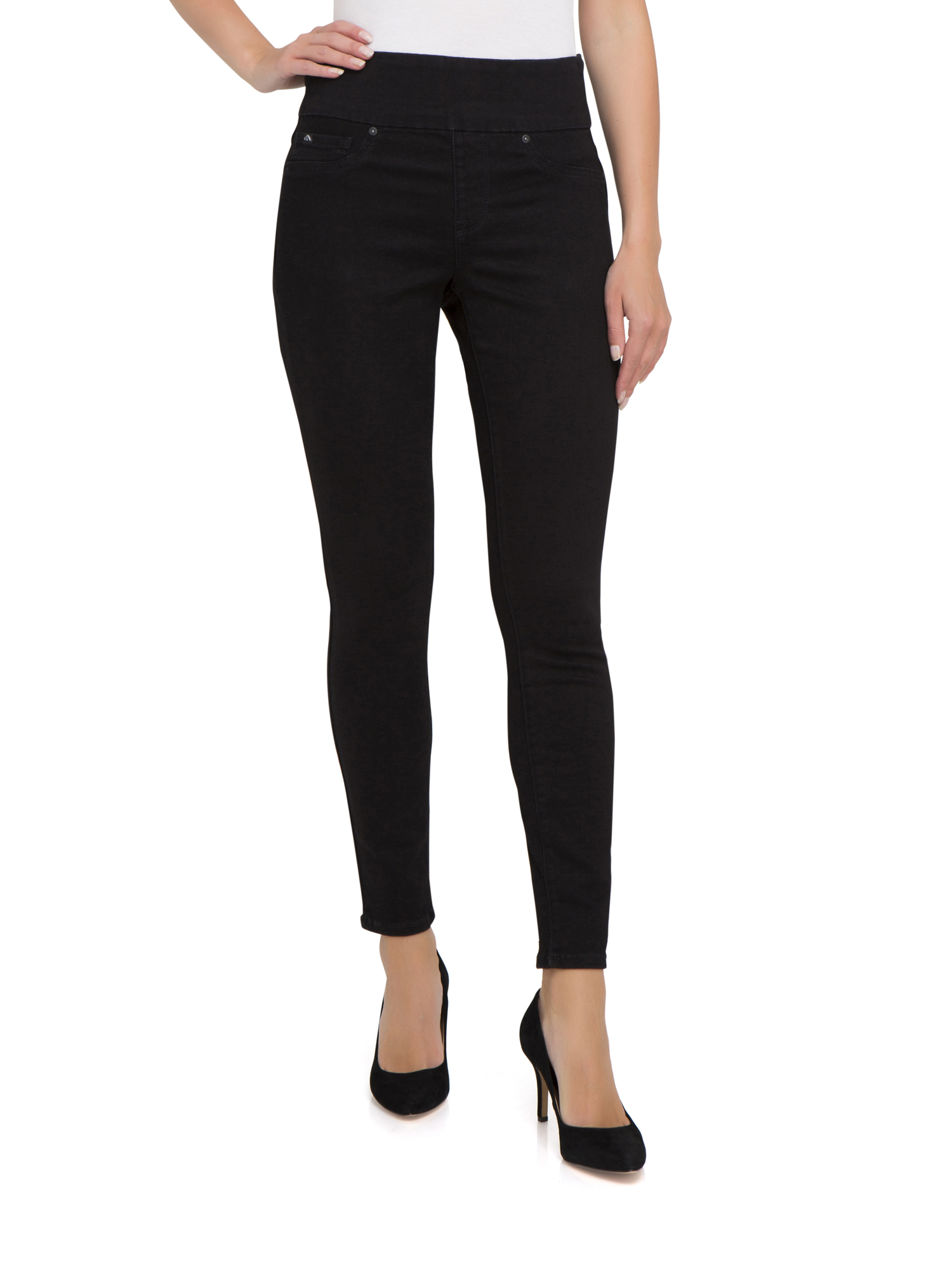 Jordache Women's Shaping Wide Waistband Pull-on Leggings