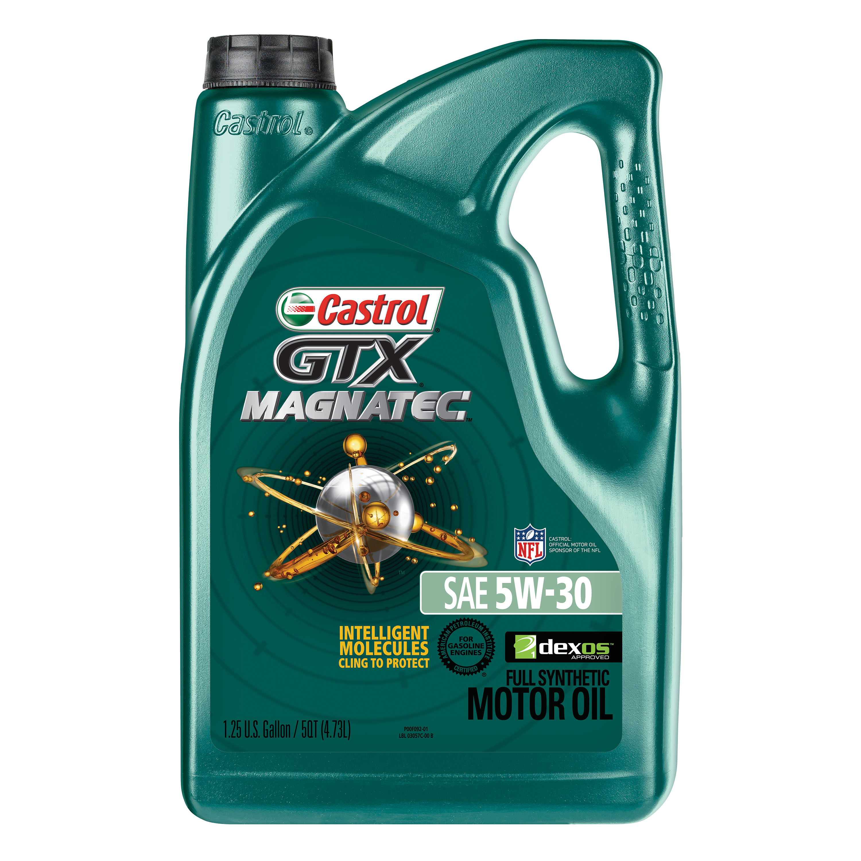 Castrol GTX MAGNATEC 5W-30 Full Synthetic Motor Oil, 5 QT