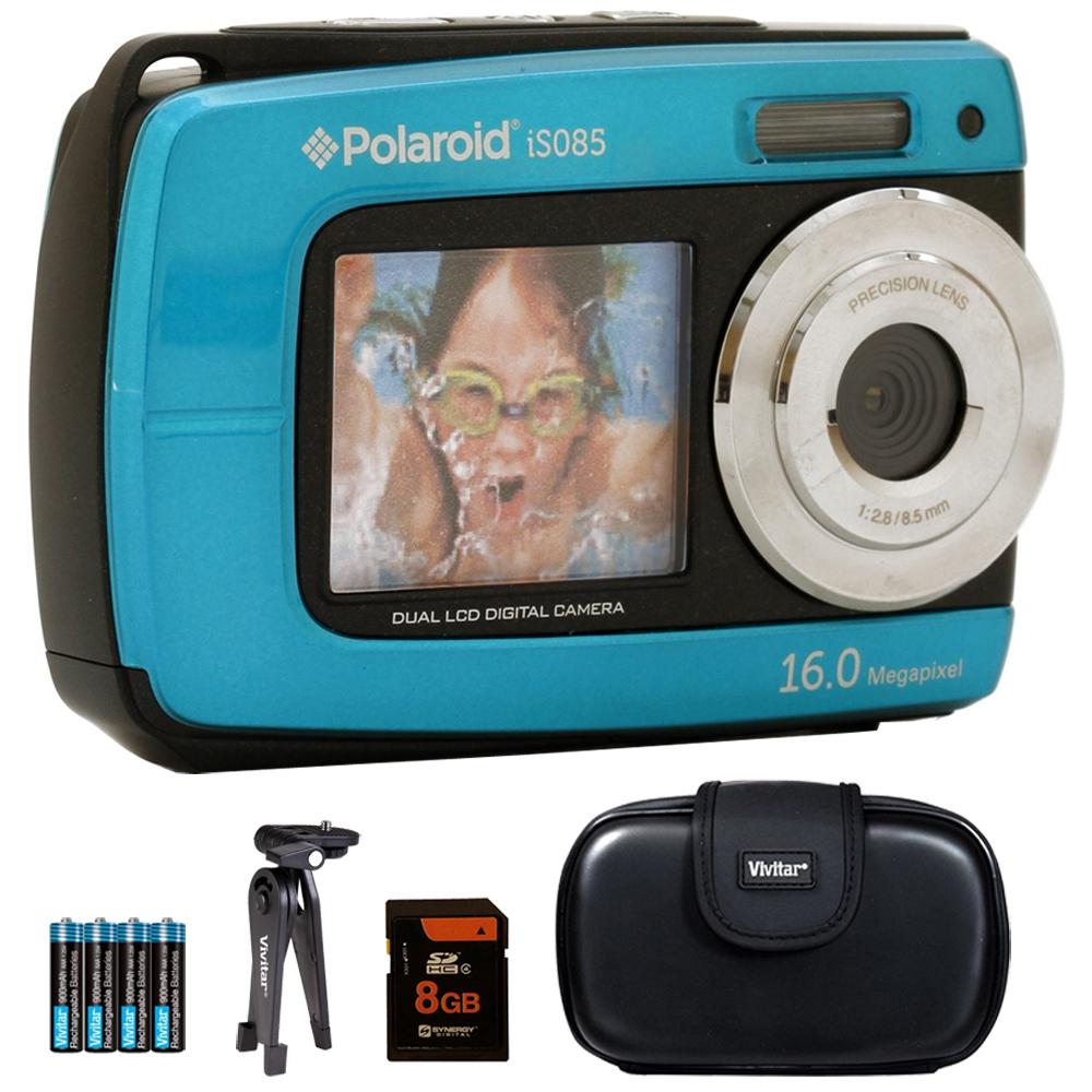 Vivitar iS085 16MP Waterproof Digital Camera Teal 8GB Accessory Kit by Vivitar