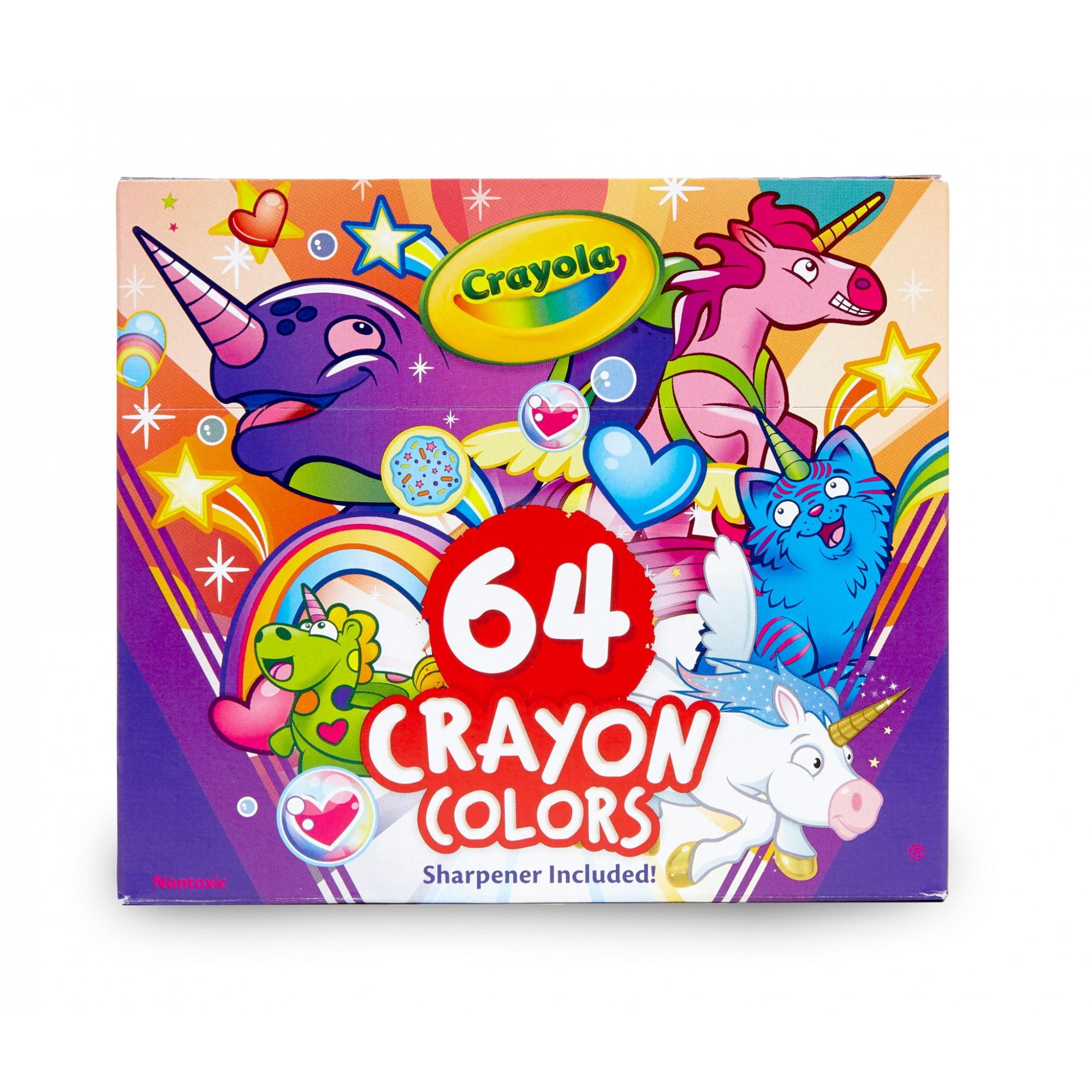 Crayola Uni-Creatures Coloring Pages and 64 Count Crayons