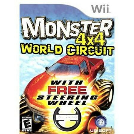 Monster Truck 4X4  World Circuit W  Wheel  Wii
